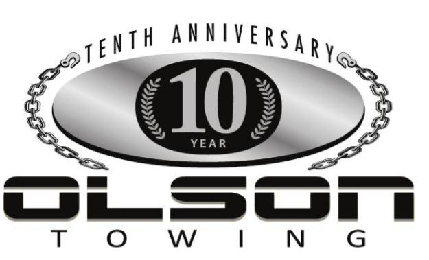 Tenth Anniversary Olson towing